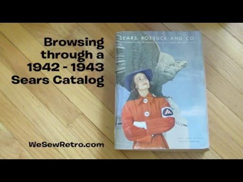 Browsing A 1940s Sears Catalog