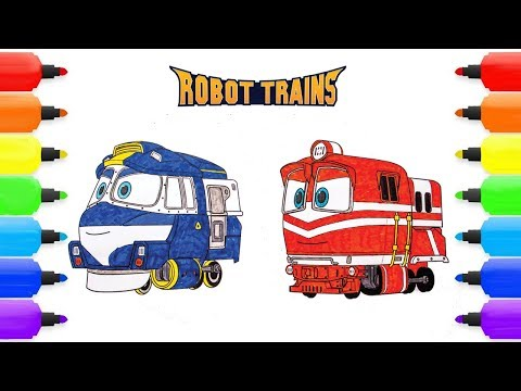 ROBOT TRAIN Coloring Pages |  ROBOT TRAIN KAY  & ALF |ROBOT TRAIN Coloring  Book for kids Children