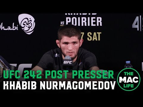 UFC 242 Post-Fight Press Conference: Khabib Nurmagomedov