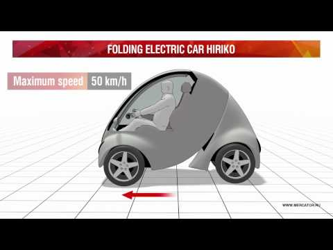 Folding electric car Hiriko