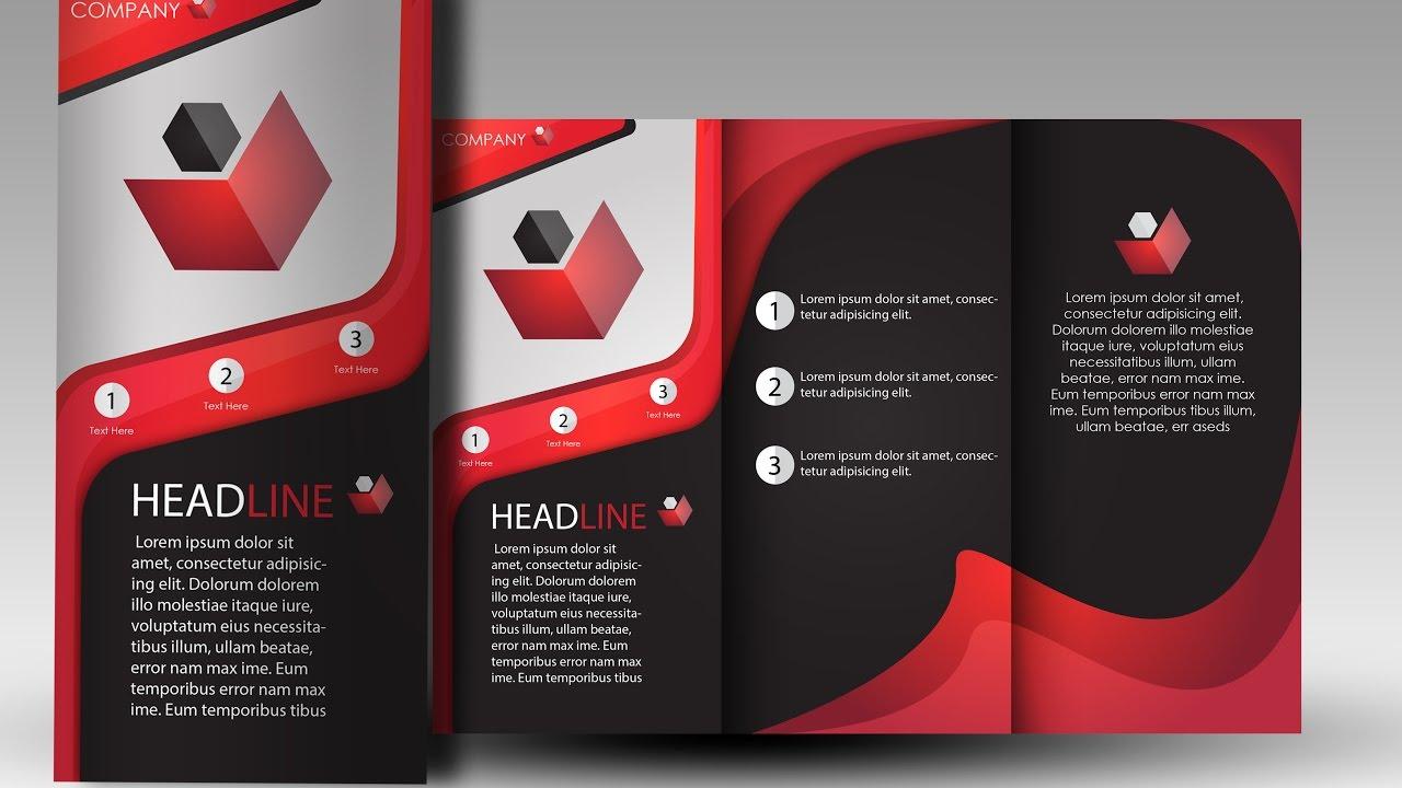 how to make professional brochures using adobe illustrator youtube