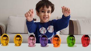 Buğra Renkli Yumurtalara Dönüştü. Colored Eggs For Kids Video