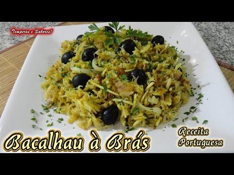 BACALHAU À BRÁS Receita Portuguesa Fácil E Deliciosa