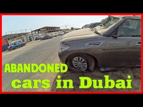 Abandoned wrecked cars in Dubai. United Arab Emirates abandoned cars
