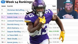 Fantasy Football Rankings Week 14 (2019)