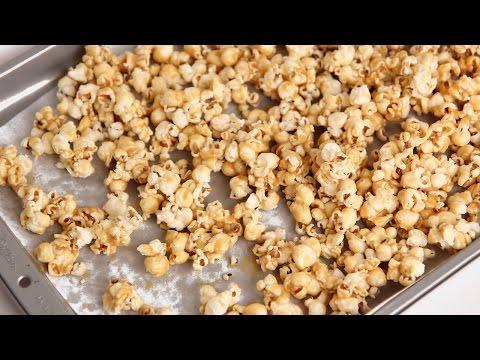 Homemade Caramel Popcorn Recipe - Laura Vitale - Laura in the Kitchen Episode 823