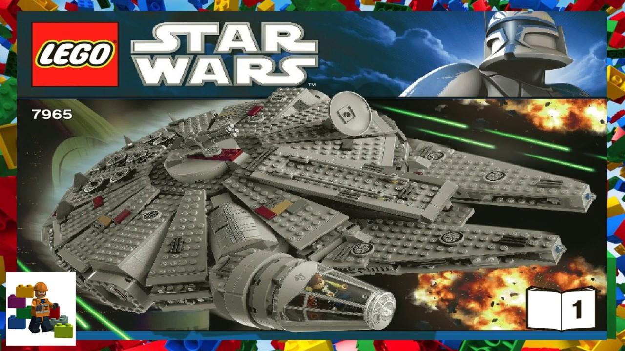 Lego Instructions Star Wars 7965 Millennium Falcon Book 1 Youtube