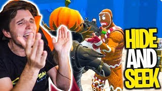 NEVER Follow gingerbread SKIN | FORTNITE Hide and Seek with GLP,Zombey & Maudado