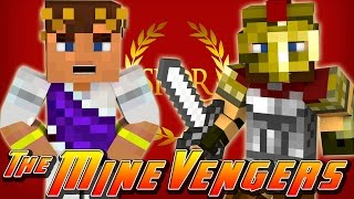 Minecraft MineVengers - TIME TRAVEL - FIGHTING CRAZY GLADIATORS