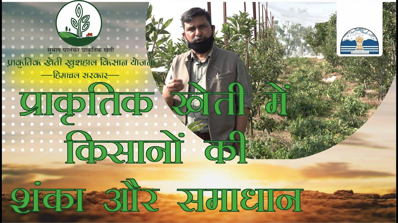 प्राकृतिक खेती में किसानों की शंकाए और समाधान  डॉ राजेश्वर सिंह चंदेल, कार्यकारी निदेशक  द्वारा