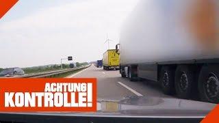 Unter 50m Abstand: LKW fährt viel zu dicht auf! | Achtung Kontrolle | Kabel Eins