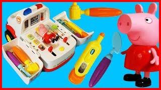 粉紅豬小妹佩佩豬救護車兒童玩具故事