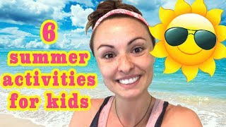 6 KID ACITIVITES TO FIGHT SUMMER BOREDOM!! | SLIME RECOMMENDATIONS!