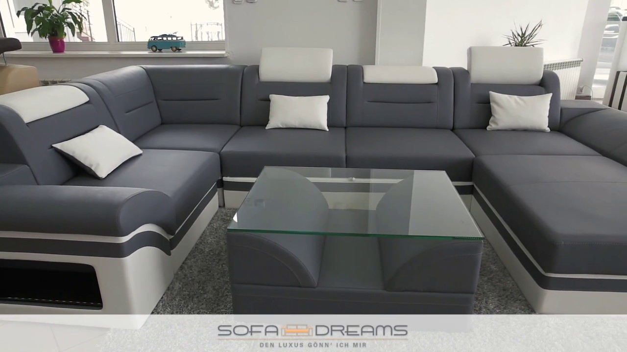 sofa dreams ledersofa designersofa ecksofas youtube. Black Bedroom Furniture Sets. Home Design Ideas