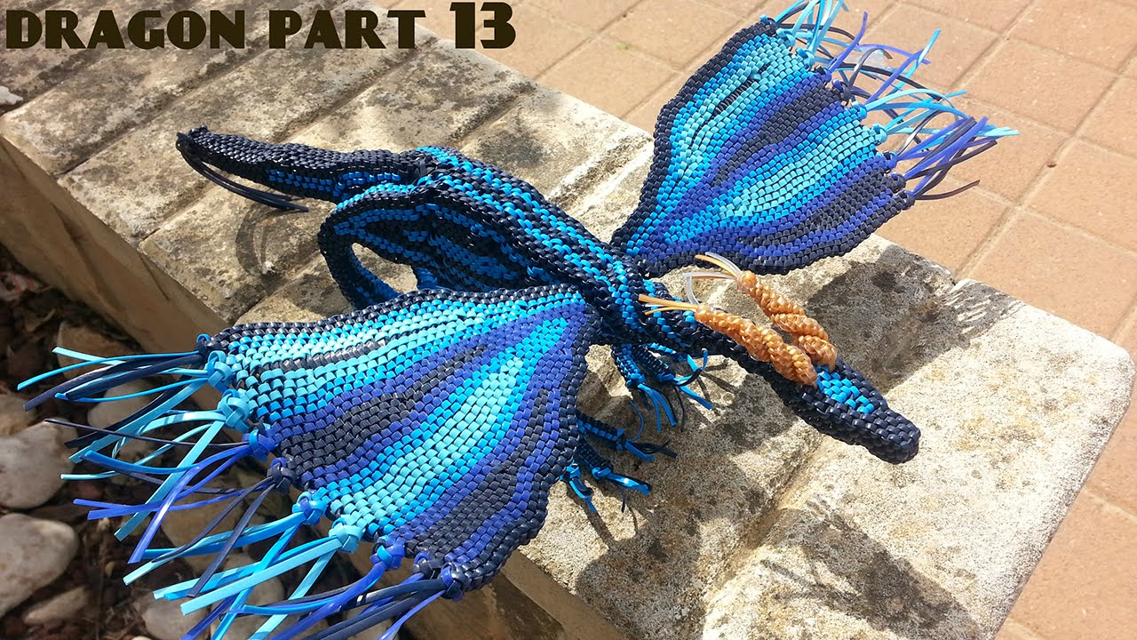 How To Make A Lanyard Dragon Part #13 (continuing The Front Legs No2)