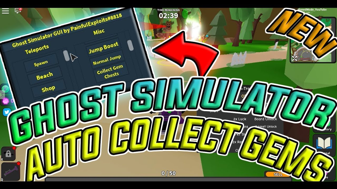 NEW SCRIPT GHOST SIMULATOR, ADOPT ME, GUIS, SCRIPTS, AHMED MODE X, AUTO  COLLECT GEMS, AUTO FARM, OP!