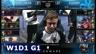 TL vs C9 | Week 1 Day 1 S9 LCS Spring 2019 (ex-NA LCS) | Team Liquid vs Cloud 9 W1D1