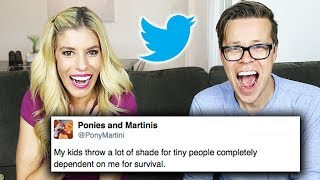 REACTING TO PARENTS FUNNY TWEETS ABOUT THIER KIDS! (DAY 150) HILARIOUS