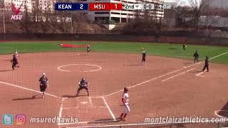 Montclair State Softball Highlights vs. Kean - 4/8/18