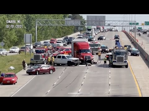 At Least Three Injured In Accident On I-680 In Omaha