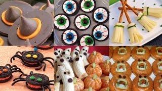 Gambar cover 6 Easy NO-BAKE DIY Halloween Treats 2014 | Spiders | Eyeballs | Ghosts | Pumpkins & More!!!