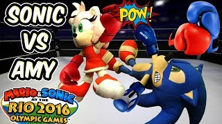 ABM: Sonic vs Amy !! Boxing Match !! Mario & Sonic Rio Olympic Games