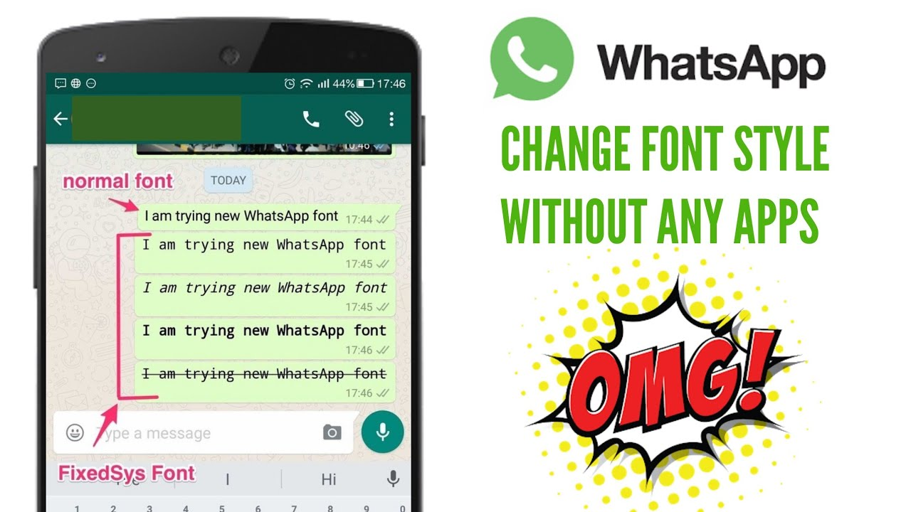 How To Change Whatsapp Chat Font Style Youtube