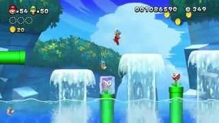 New Super Mario Bros. U Multiplayer Playthrough - Sparkling Waters