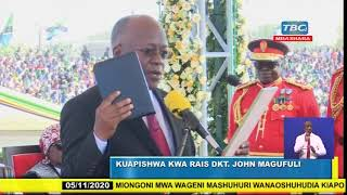 VIDEO: President Magufuli takes oath of office