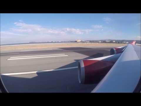 Virgin VS20 San Francisco -  Push Back / Taxi / Take Off - 26 Aug 2015