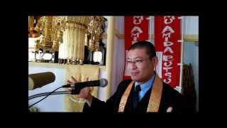 "日英仏教法話 Buddhist Sermon in Japanese/English: A Benefit of ""Namu Amida Butsu"" As Soon As One Wakes Up"