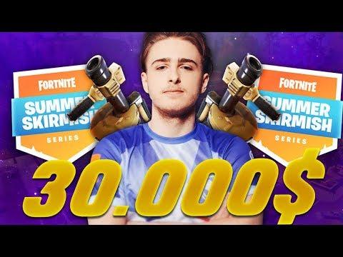 CETTE GAME ME FAIT GAGNER 30 000$ !!! (FORTNITE SUMMER SKIRMISH GAMEPLAY)
