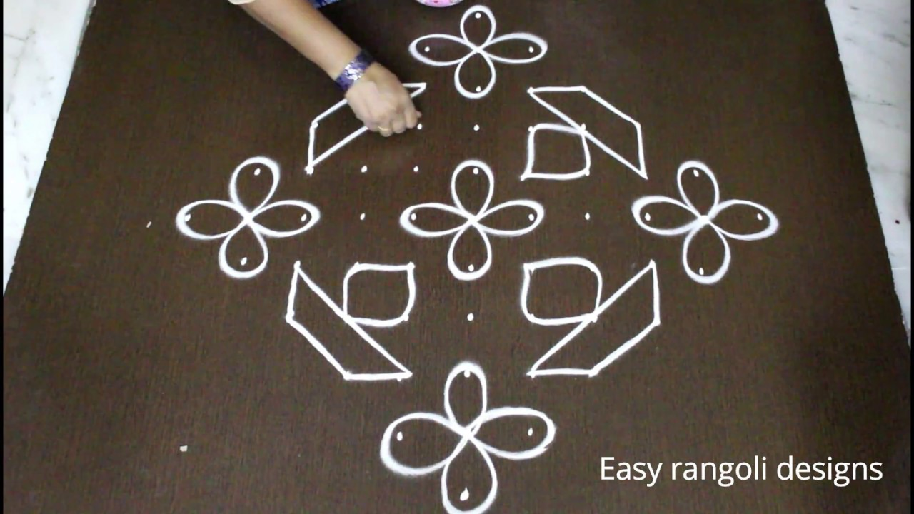 Download simple kolam designs with 11 dots * latest deepam muggulu  * easy rangoli designs * daily rangoli
