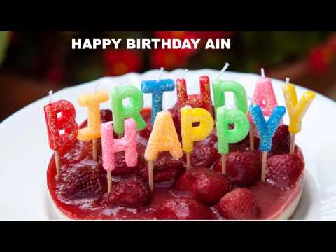 Ain  Cakes Pasteles - Happy Birthday