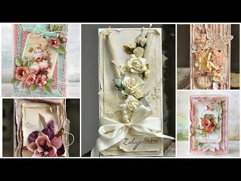 Most Beautiful & Romantic Vintage Style Shabby Chic Greeting Card Design/Handmade Greeting Card Idea