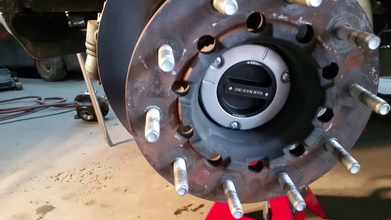 dodge ram 4500 locking hub customer install part 2 of 3 by rh youtube com Dodge Ram 2500 Front Axle Nut Dodge 2500 Front Axle Diagram