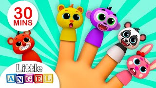 Finger Family Song ( Baby Animal Version) , Wheels on the Bus | Nursery Rhymes by Little Angel