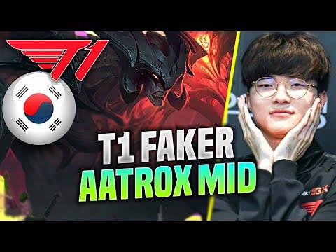 FAKER BRINGS BACK AATROX MID! - T1 Faker Plays Aatrox Mid vs Irelia! | KR SoloQ Patch 10.21