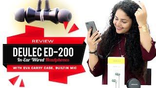 Deulec ED-200 In-Ear Wired Headphones with EVA Carry Case | Earphones Review | Earphones Unboxing