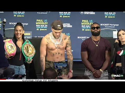 Boxing Jake Paul Entrouage Insults Tryon Woodley Mom At Press Conference By Eric Pangilinan