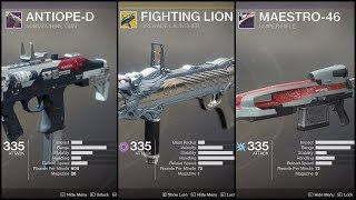 Destiny 2 - Viewer Loadout: Solo Prestige The Arms Dealer w/ SMG, Fighting Lion, Sniper