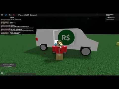 Free Robux Van Script Showcase Youtube