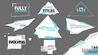 Pro Title Presets For Davinci Resolve 17 | Abstract Titles