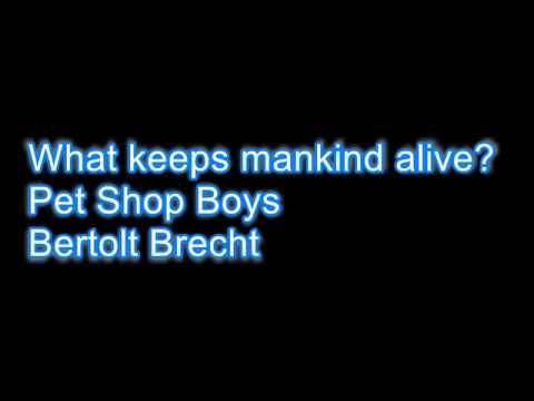 what keeps mankind alive - Karaoke version