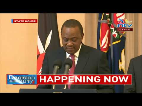President Uhuru reacts to the ruling by the Supreme Court