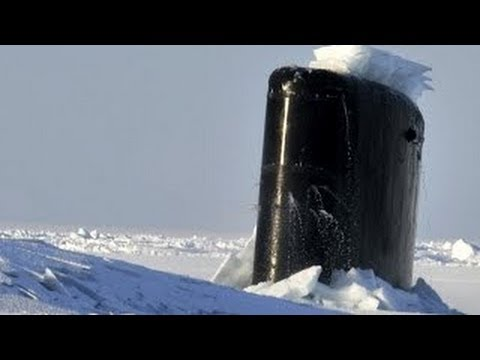 ICE BREAKERS! Incredible footage of U.S. Navy NUCLEAR SUBMARINES BREAKING THROUGH ARCTIC ICE!