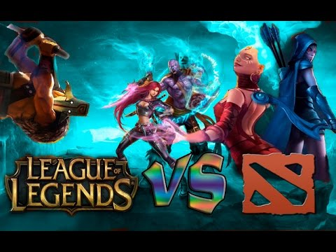 видео: dota 2 vs league of legends: МОНТАЖ(18+)