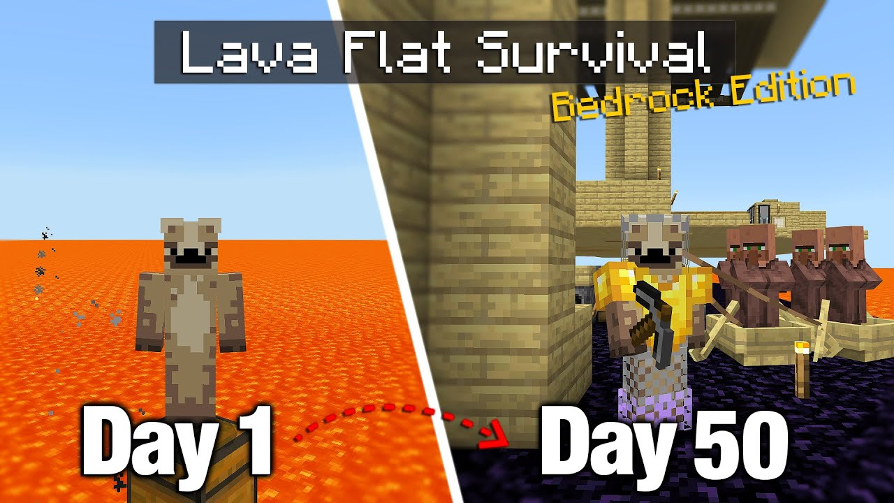 I Survived 50 Days on a Lava Flat World with Nothing but... a Bonus Chest 🔥