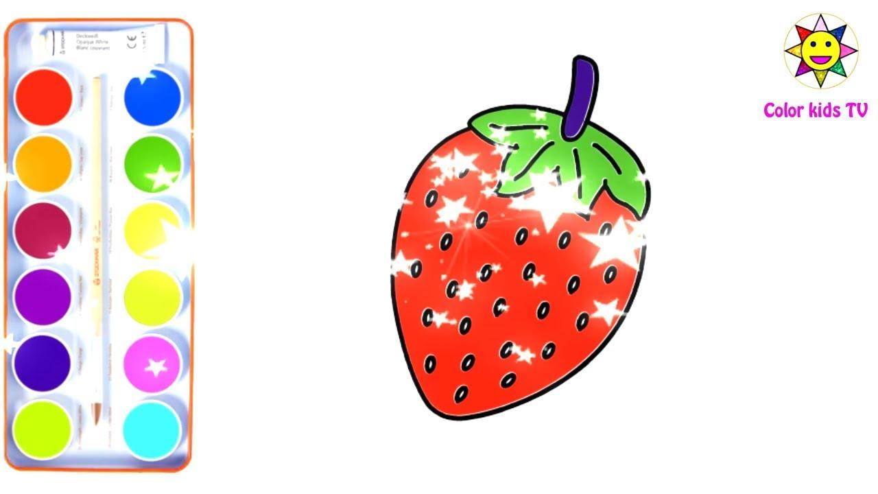 Vẽ Và Tô Màu Trái Cây Hoa quả