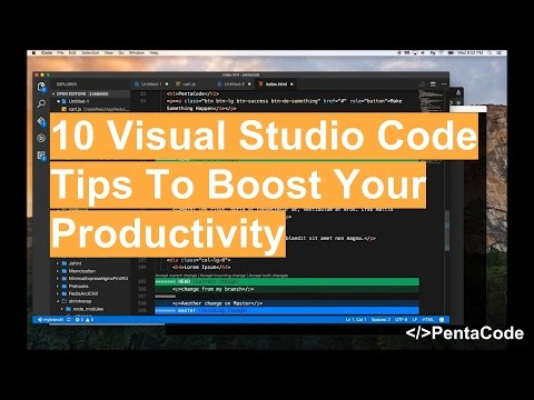 10 visual studio code tips to boost your productivity youtube 10 visual studio code tips to boost your productivity sciox Images